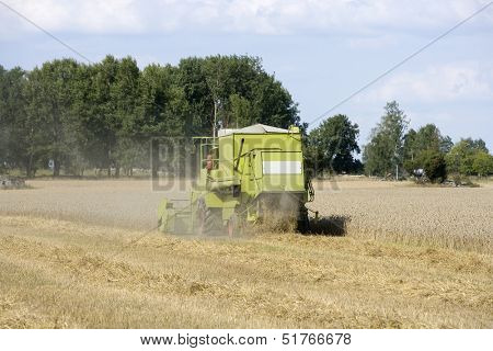 Harvesting the fields at the farm