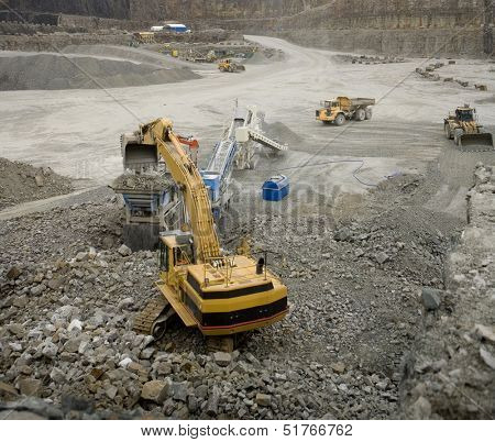 Work in an Pit Mine industry