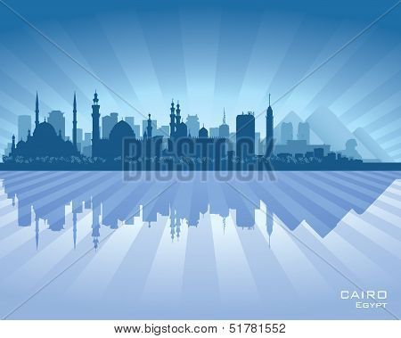 Cairo Egypt City Skyline Silhouette