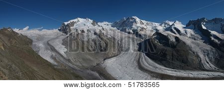 Monte Rosa And Glacier