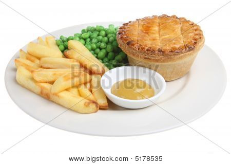 Steak Pie And Chips