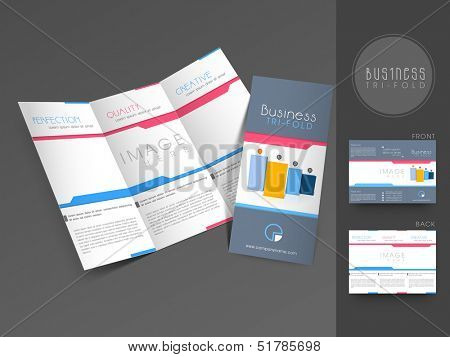 Professional business three fold flyer template, corporate brochure or cover design, can be use for publishing, print and presentation.