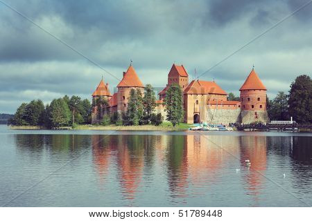 Old Trakai castle in Lithuania