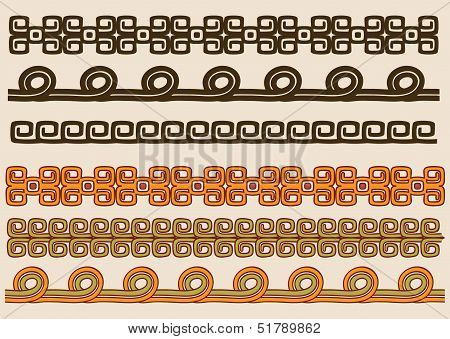 Native American pattern border set