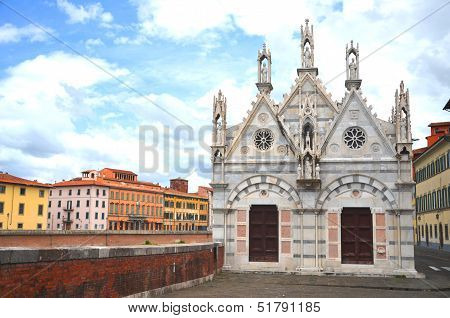 Church of Santa Maria della Spina in Pisa, Tuscany in Italy
