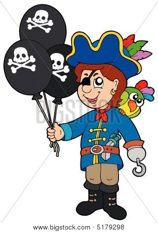 Pirate Boy With Balloons