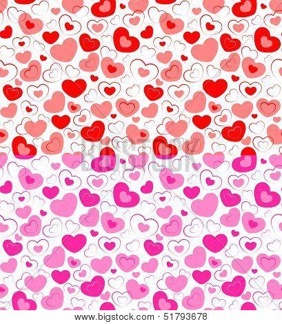 Dual Seamless Of Hearts
