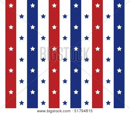 American Seamless Pattern Background