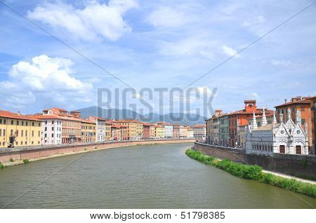 Church of Santa Maria della Spina by Arno river in Pisa, Tuscany in Italy