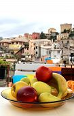 foto of genova  - Mix of fruits on the beautiful terrace in Genova Italy - JPG