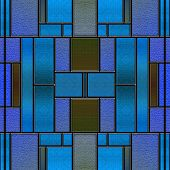 Seamless Stained Glass Panel