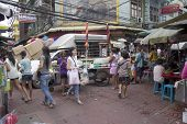 Bangkok, Thailand- Oct 10Th: Bustling Chinatown In Bangkok On October 10Th 2012. Chinatown Is One Of