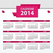 image of august calendar  - Vector Calendar 2014 - JPG