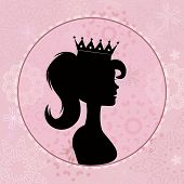 picture of cameos  - An illustration of little girl with crown - JPG