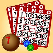 Bingo Set With Wood Balls