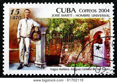 Postage Stamp Cuba 2004 Jose Marti In 1870