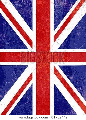 Union Jack flag background with a grunge effect