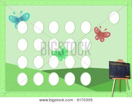 Green template children graduation