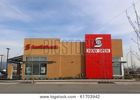 Port Coquitlam - February 26, 2014 : Brend new Scotiabank in Port Coquitlam BC. Canada. The company ranked at number 84 on the Forbes Global 2000 listing in 2013.