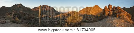 180 degree panorama of the sonoran desert in arizona