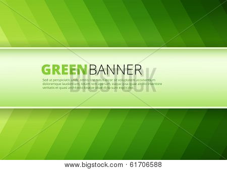 Green  background with banner place