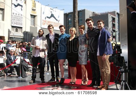 LOS ANGELES - MAR 17:  Kate Winslet, Shailene Woodley, Divergent Cast at the Kate Winslete Hollywood Walk of Fame Star Ceremony at W Hotel on March 17, 2014 in Los Angeles, CA