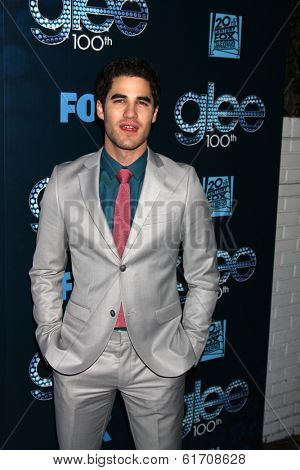 LOS ANGELES - MAR 18:  Darren Criss at the GLEE 100th Episode Party at Chateau Marmont on March 18, 2014 in West Hollywood, CA