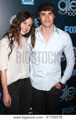 LOS ANGELES - MAR 18:  Melissa Benoist, Blake Jenner at the GLEE 100th Episode Party at Chateau Marmont on March 18, 2014 in West Hollywood, CA