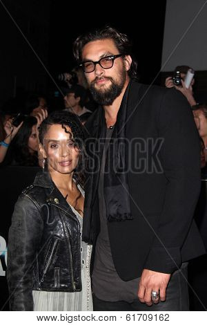 LOS ANGELES - MAR 18:  Lisa Bonet, Jason Momoa at the