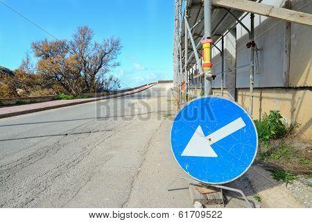 Blue Road Sign