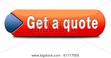 get a quote button or icon