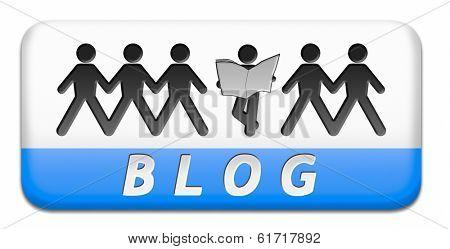 Blog online web log on personal website daily blogging