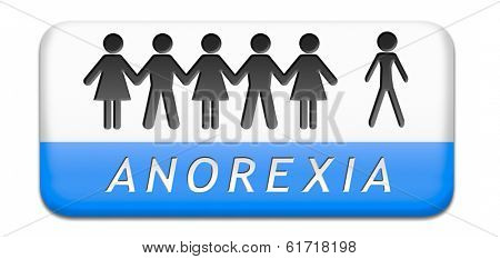 anorexia nervosa eating disorder with under weight as symptoms needs prevention and treatment is caused by extreme dieting, diet and bulimia can cause it paper chain silhouette