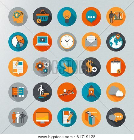Flat design icon set