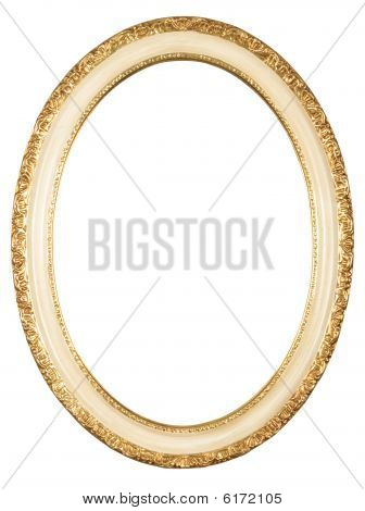 Isolated Oval Frame