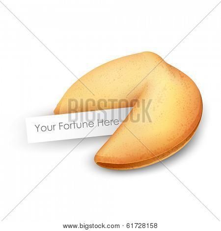 illustration of fortune cookies on white background