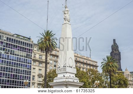 The Piramide De Mayo In Buenos Aires, Argentina.