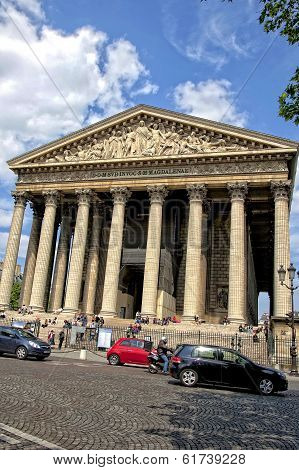 The Madeleine Church in Paris