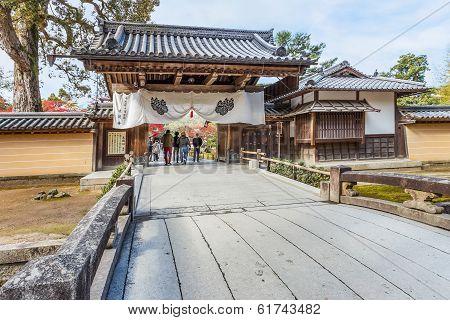 Main Entranc of Kinkakuji Temple in Kyoto