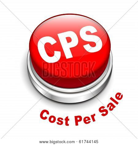 3D Illustration Of Cps Cost Per Sale Button