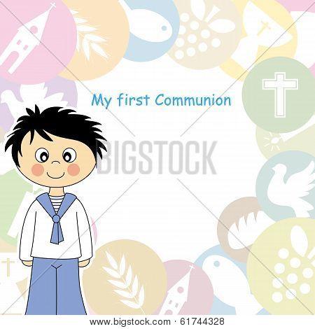 First Communion boy