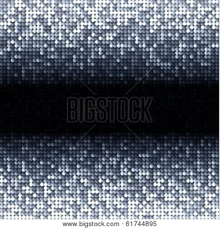 Silver gray seamless shimmer background with shiny light and dark paillettes. Sparkle glitter background. Abstract Geometric Background. Abstract technology background, vector illustration