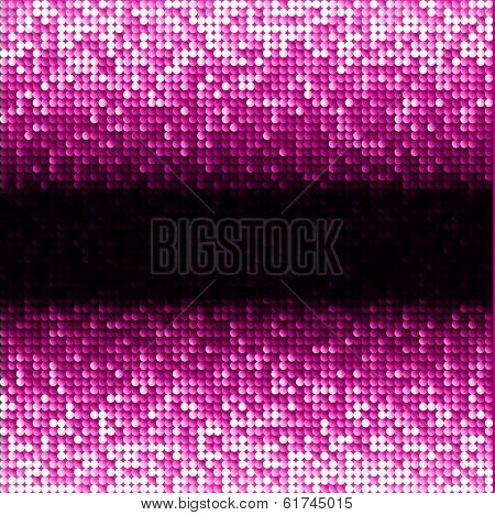 Pink seamless shimmer background with shiny light and dark paillettes. Sparkle glitter background. Abstract Geometric Background. Abstract technology background, vector illustration