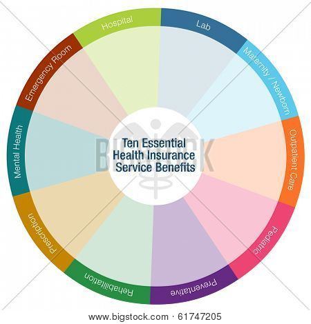 An image of a health insurance benefits chart.