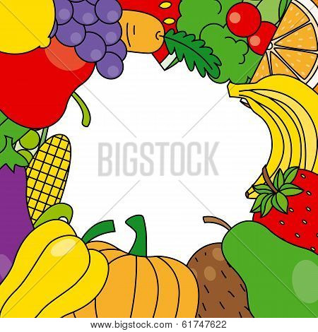 fruits and vegetables frame