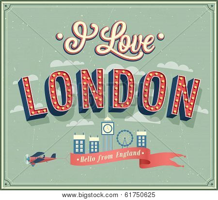Vintage Greeting Card From London - England.