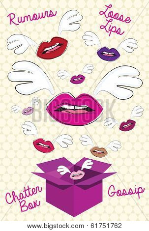 Chatter Box Vector Illustration