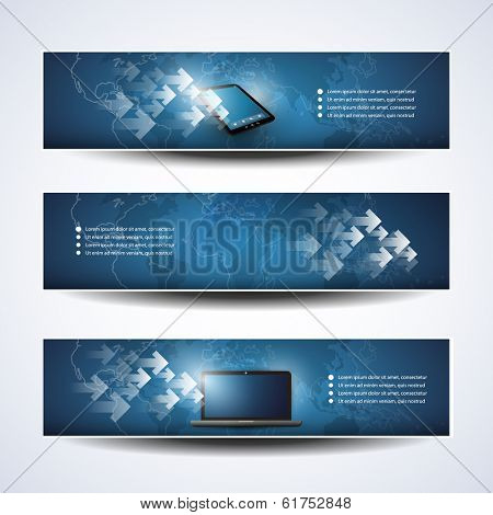 Banner or Header Design - Cloud Computing, Networks