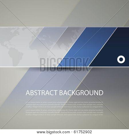 Banner or Header Design with World Map Background
