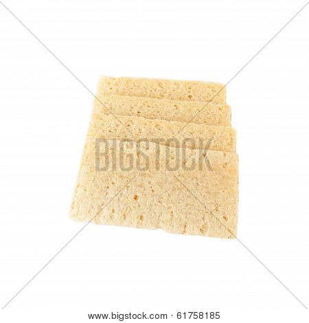 Crispbread from corn grits isolated on white background